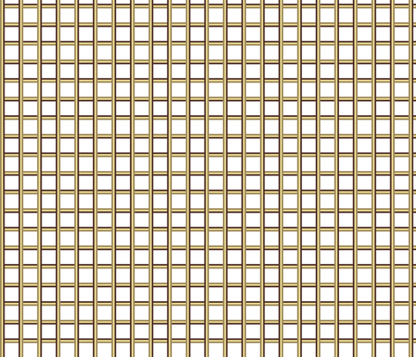 White Beige Dk Brown Plaid fabric by mazeman on Spoonflower - custom fabric