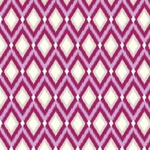Purple Tribal Ikat Chevron