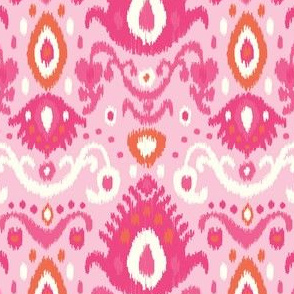Pink and Coral Ikat