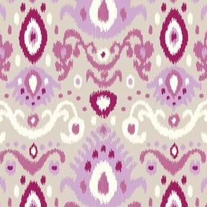 Purple and Linen Ikat
