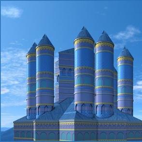 Blue Turrets Castle © Gingezel™ 2013