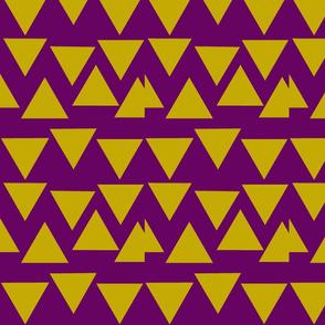 Mustard + Plum Triangular