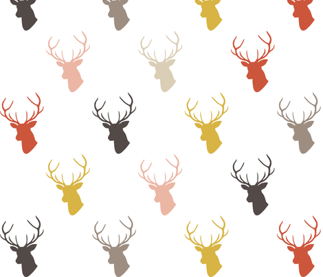 Blushing Deer fabric by mrshervi on Spoonflower - custom fabric