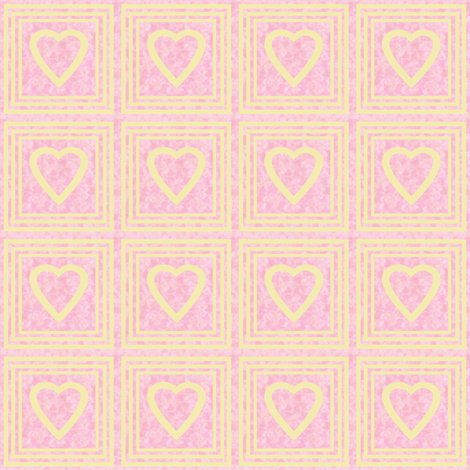 Heart on a Stamp fabric by anniedeb on Spoonflower - custom fabric