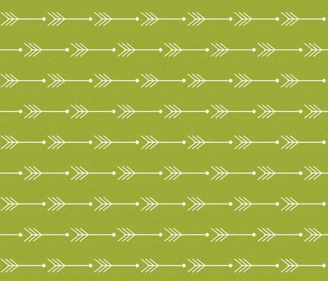 Green Arrows fabric by natitys on Spoonflower - custom fabric