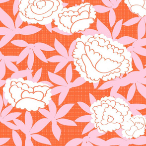 Zen_Floral- orange bkground