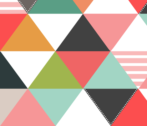 Geo Quilt Pinks fabric by natitys on Spoonflower - custom fabric