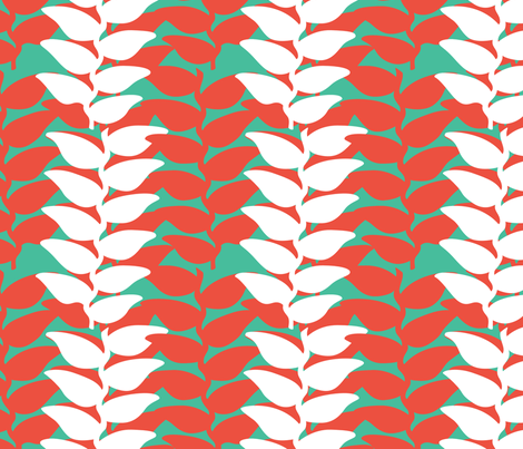 Bali Tropic Leaf fabric by paula_lukey on Spoonflower - custom fabric