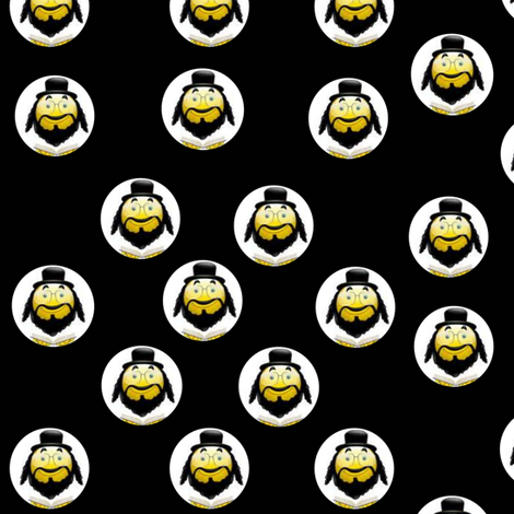 Rabbi Smiley! fabric by winterblossom on Spoonflower - custom fabric