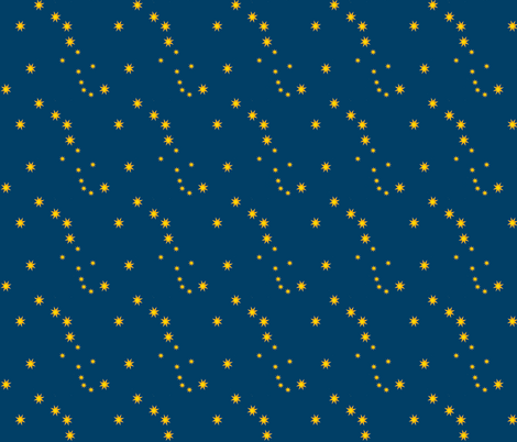 DipperDanceBlue fabric by grannynan on Spoonflower - custom fabric