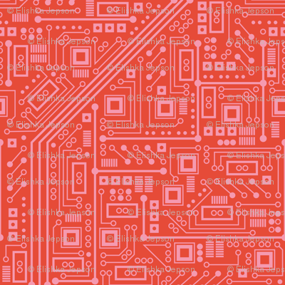 Robot Circuit Board (Coral)