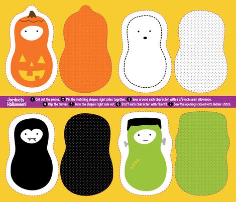 Small Fat Quarter Jordna T Halloween Stuffed Toys Panel Fabric
