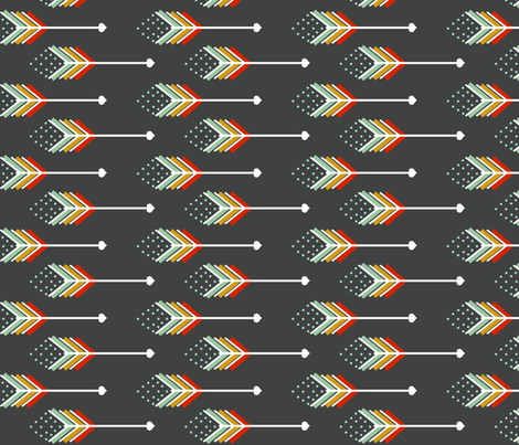 Love Arrows fabric by natitys on Spoonflower - custom fabric