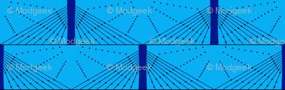 Geometric Blue Bridge
