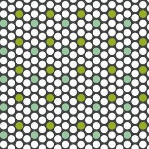 Dots grey and green