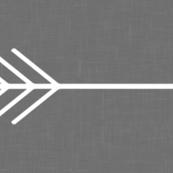 Linen Arrows Grey