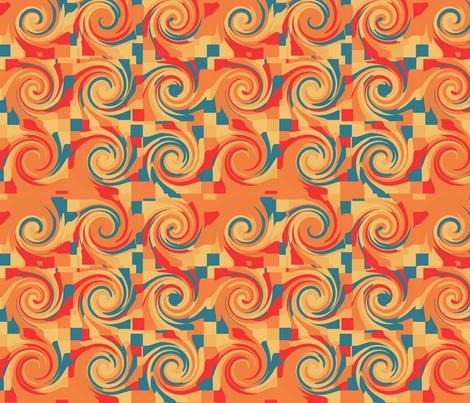 Adobe Swirl fabric by pange on Spoonflower - custom fabric