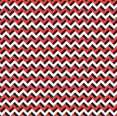 Black red and white zigzags fabric by petitspixels on Spoonflower - custom fabric