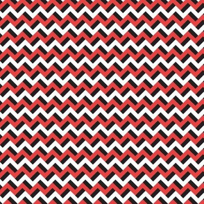 Black red and white zigzags