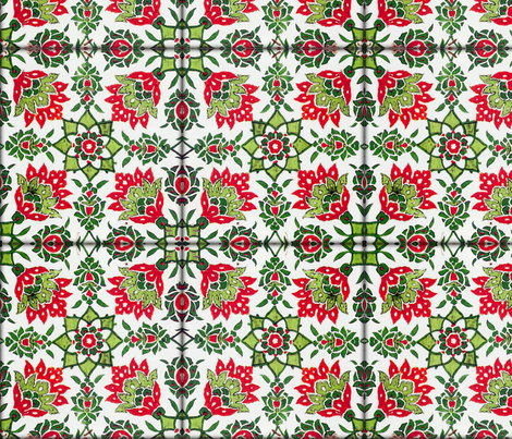 The Lata Tile ~ Christmas In Mumbai fabric by peacoquettedesigns on Spoonflower - custom fabric