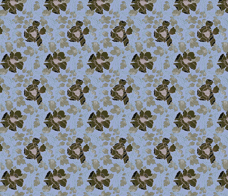 Floral Fling ~ Kentucky  fabric by peacoquettedesigns on Spoonflower - custom fabric