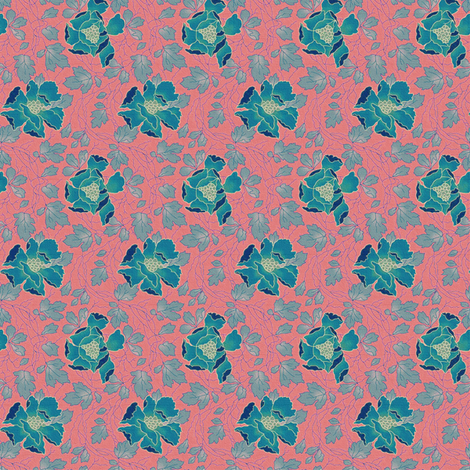 Floral Fling ~ Tennessee ~ Medium fabric by peacoquettedesigns on Spoonflower - custom fabric