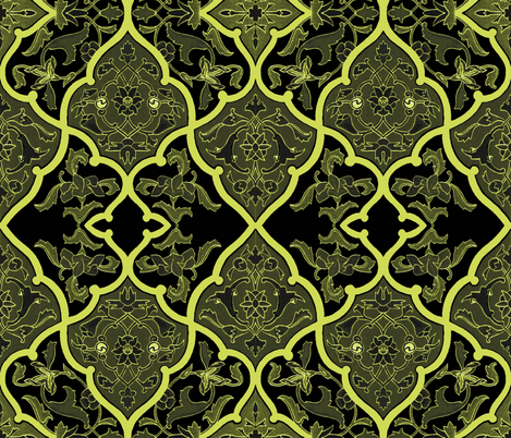 The Sybil ~ Forgotten Kingdom fabric by peacoquettedesigns on Spoonflower - custom fabric