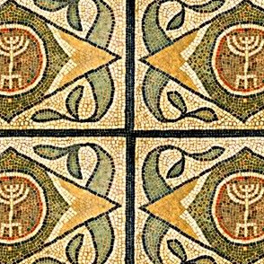Ancient Tile Menorah - Larger Scale
