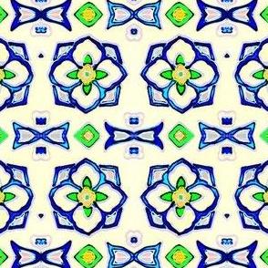Handpainted Flower Tiles