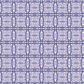 Rococo watercolor plaid in lavenders