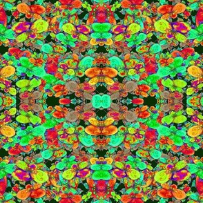 FLOWERS FEAST FRUIT SALAD COLOR GEOMETRIC