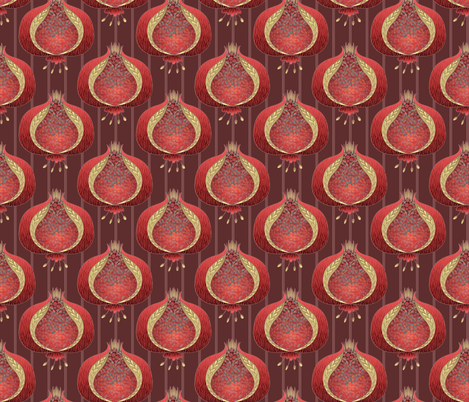 ©2011 pomegranate delight - dusty red fabric by glimmericks on Spoonflower - custom fabric