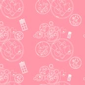 Police Box Geometric Pink