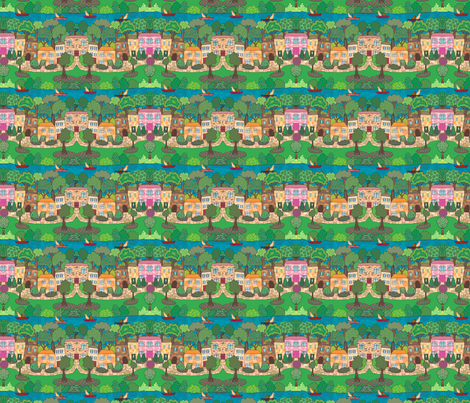 River View fabric by linsart on Spoonflower - custom fabric