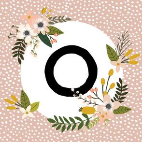 Blush Sprigs and Blooms Monogram Blanket // O