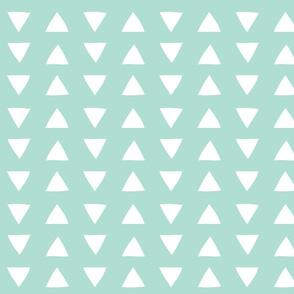 hand drawn triangles aqua
