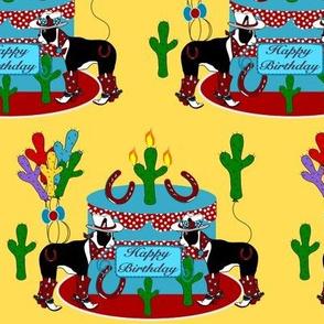 Western Boston Terrier Birthday Party