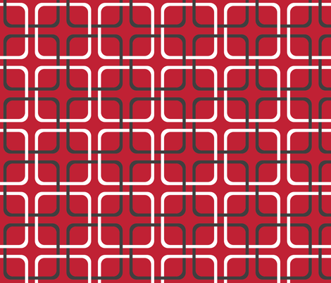 empathicalism ~ squircle lock ~ garnet, charcoal and white fabric by peacoquettedesigns on Spoonflower - custom fabric