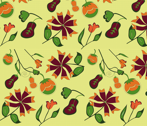 christine's vase #3 fabric by vanillabeandesigns on Spoonflower - custom fabric