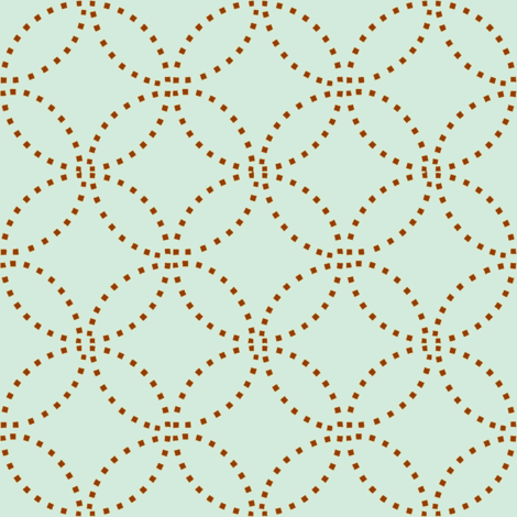 Stitching circles fabric by keweenawchris on Spoonflower - custom fabric
