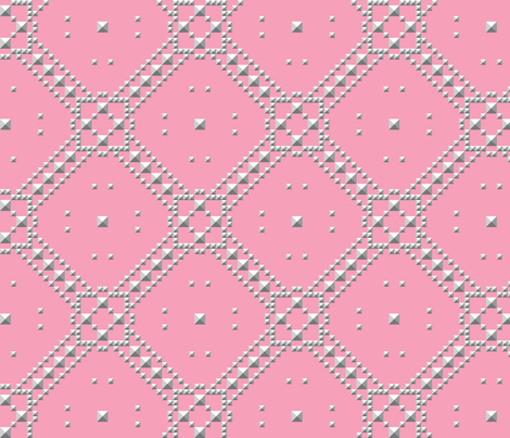 Studded_Plaid_Lattice_4 fabric by aygeartist on Spoonflower - custom fabric