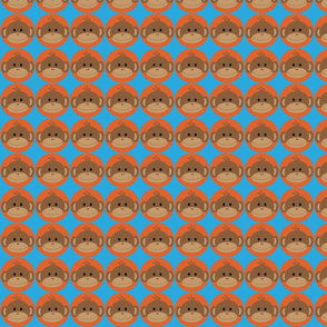 Monkeys in Orange Circles