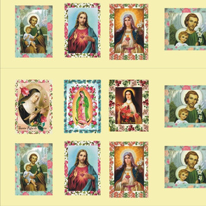 Catholic Saints Pannel - beige background