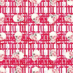 Red skull grid