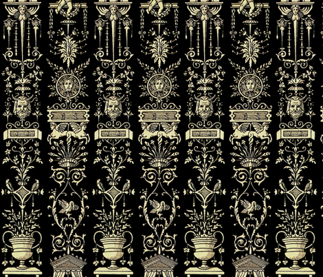 Greek Trellis ~ Ebony and Ivory fabric by peacoquettedesigns on Spoonflower - custom fabric