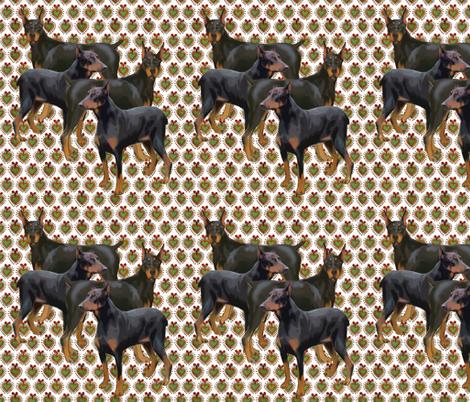 doberman fabric by dogdaze_ on Spoonflower - custom fabric