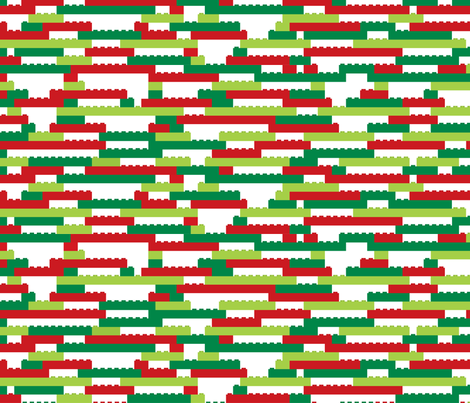 Interlocking Brick Wall - Holiday fabric by linkolisa on Spoonflower - custom fabric