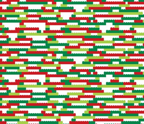Interlocking Brick Wall - Holiday fabric by linkolisa on Spoonflower - custom fabric