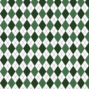 Argyle in Green and White