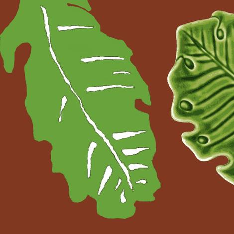 tiki leaves fabric by paragonstudios on Spoonflower - custom fabric